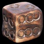 Miniature bone dice