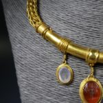 Antique Jewelry Gold Necklace Gemstones