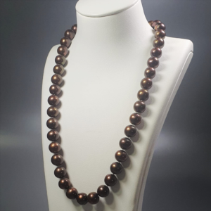 ٍٍSouth Sea Natural Brown AA Pearl Necklace