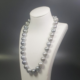 ٍٍSouth Sea Natural Gray AA Pearl Necklace